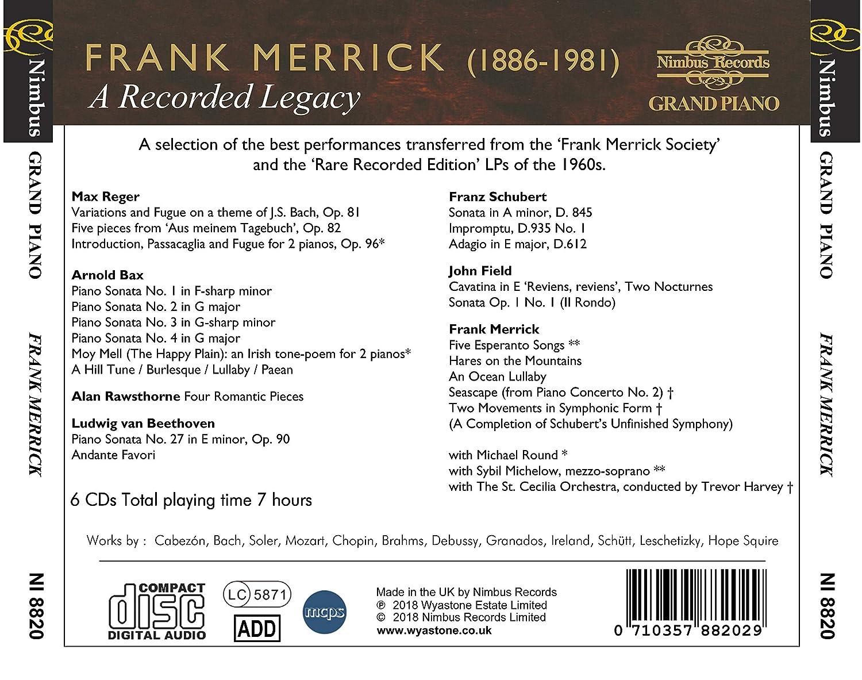 Frank Merrick A Recorded Legacy Frank Merrick Bach Beethoven