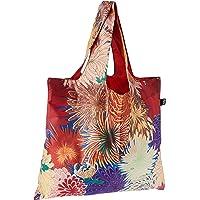 LOQI Museum MAD Reusable Shopping Bag, O/S, Japanese Chrysanthemum