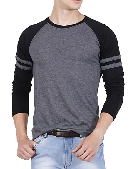 615e888b93f Fanideaz Cotton Summer Raglan Full sleeve TShirt for Men XL(Premium Raglan T -Shirt