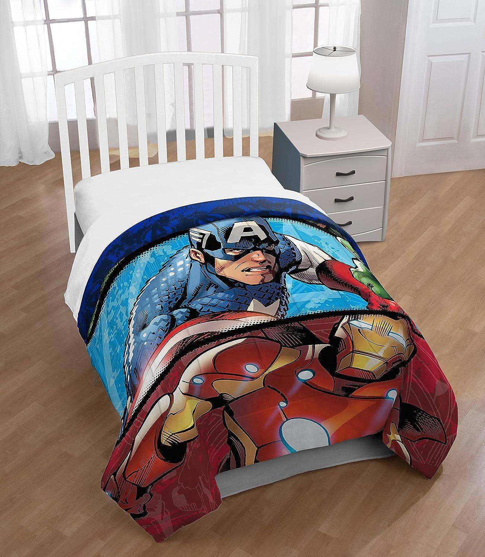 Amazon.com: Marvel Avengers 'Lifestyle Stripe' Reversible ...