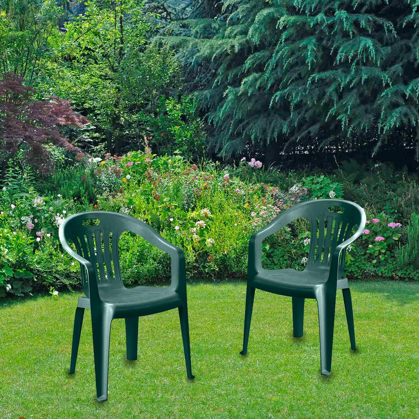 Sedie per tavolo da giardino Sedia Piona Verde con ...
