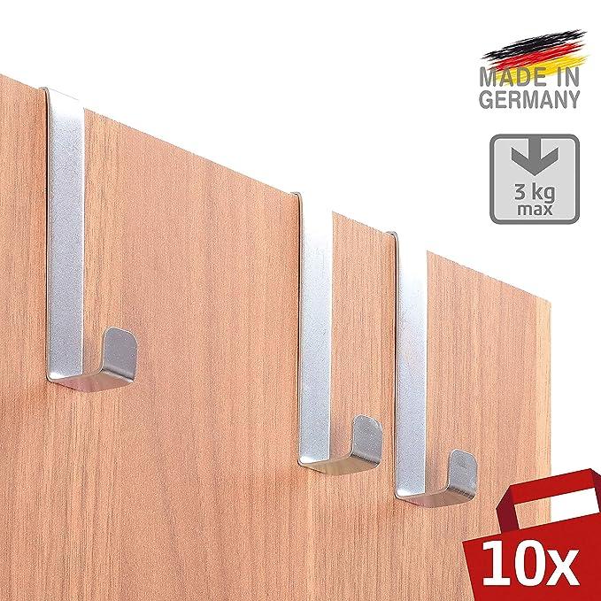 SOBRE LOS GANCHOS DE LA PUERTA 10 piezas por 4smile - Hecho en Alemania | GANCHOS reversibles para puertas y gabinetes de armarios | Perchas y ganchos de ...