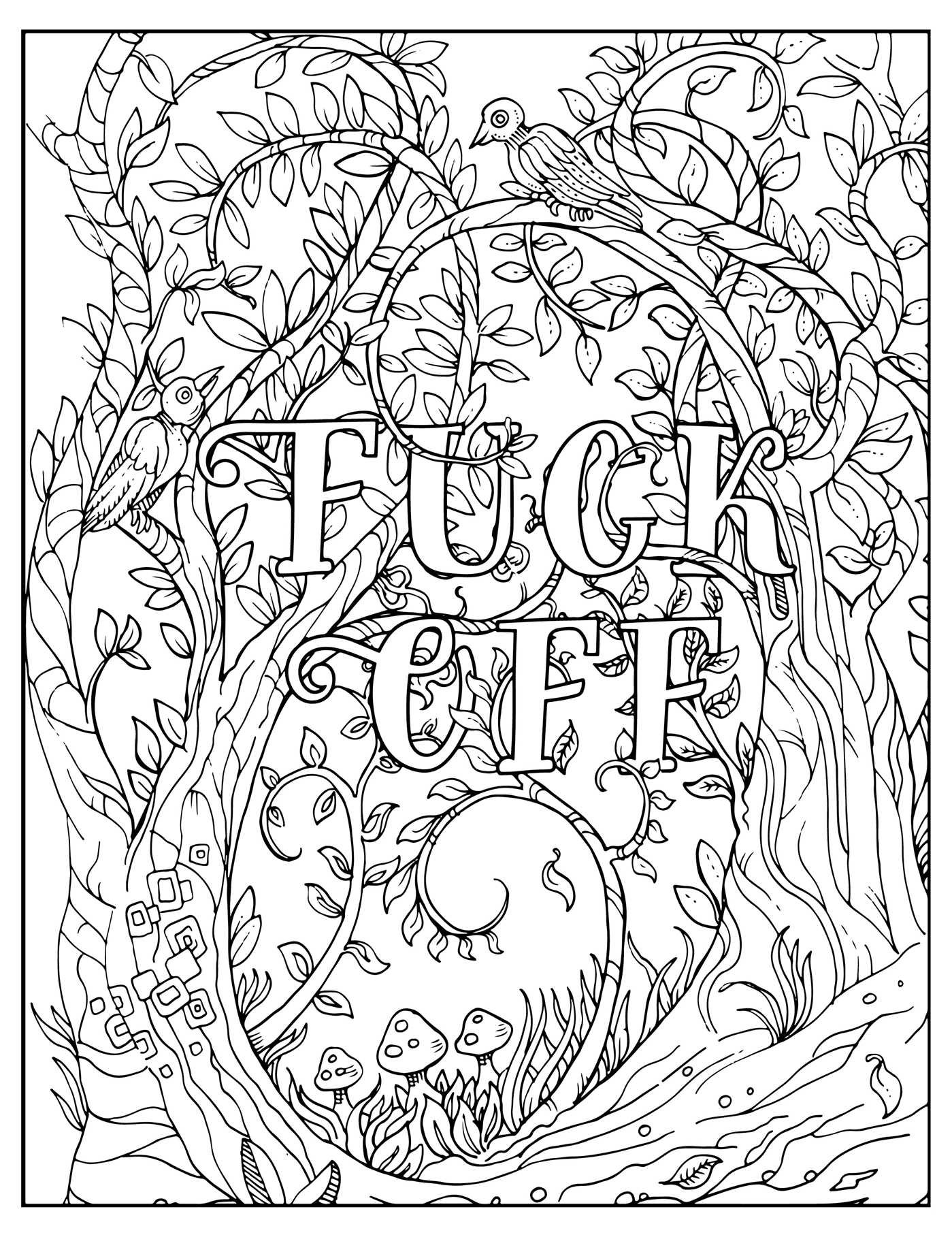 fuck off im coloring unwind with 50 obnoxiously fun swear word coloring pages dare you stamp company dare you stamp co 9781604336610 amazoncom - Inspirational Word Coloring Pages