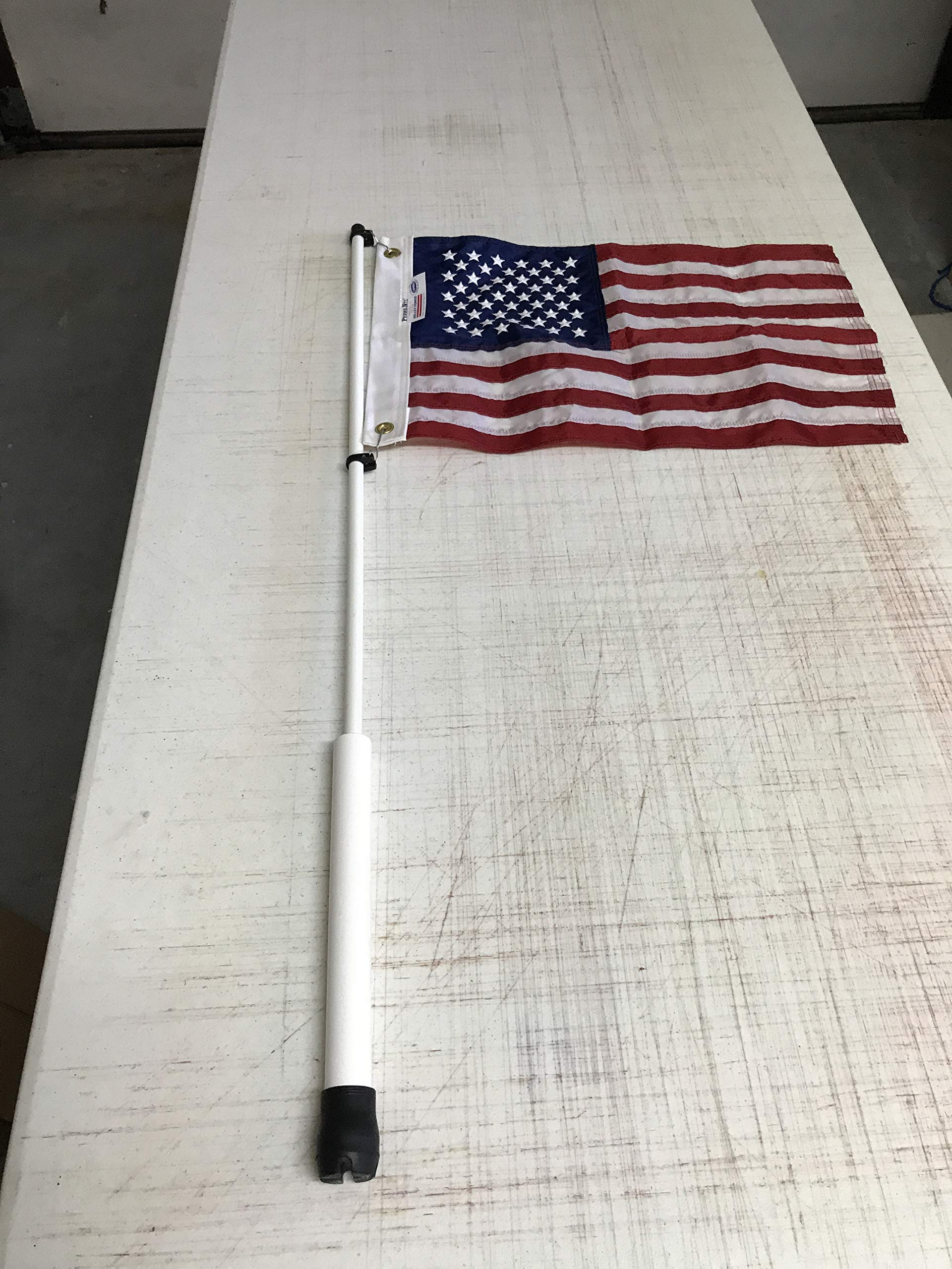 South Wind Designs Boat Flag Pole and American Flag Combo 3'