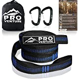 Pro Hammock Tree Straps with CARABINERS - 400LB Rated (1200LB Tested), Adjustable 30+2 Loops, Non-Stretch, Easy Setup…