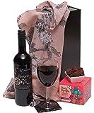Ladies Indulgence Hamper Gift Set - Red Wine & Chocolate Truffles - The Perfect Hamper For Her