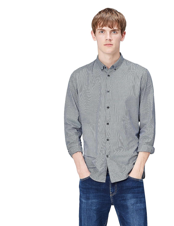 TALLA 52 (Talla del Fabricante: Large). find. Camisa de Cuadros Ajustada para Hombre