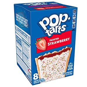 Pop-Tarts, Breakfast Toaster Pastries, Frosted Strawberry, Proudly Baked in the USA, 13.5oz Box (Pack of 8)