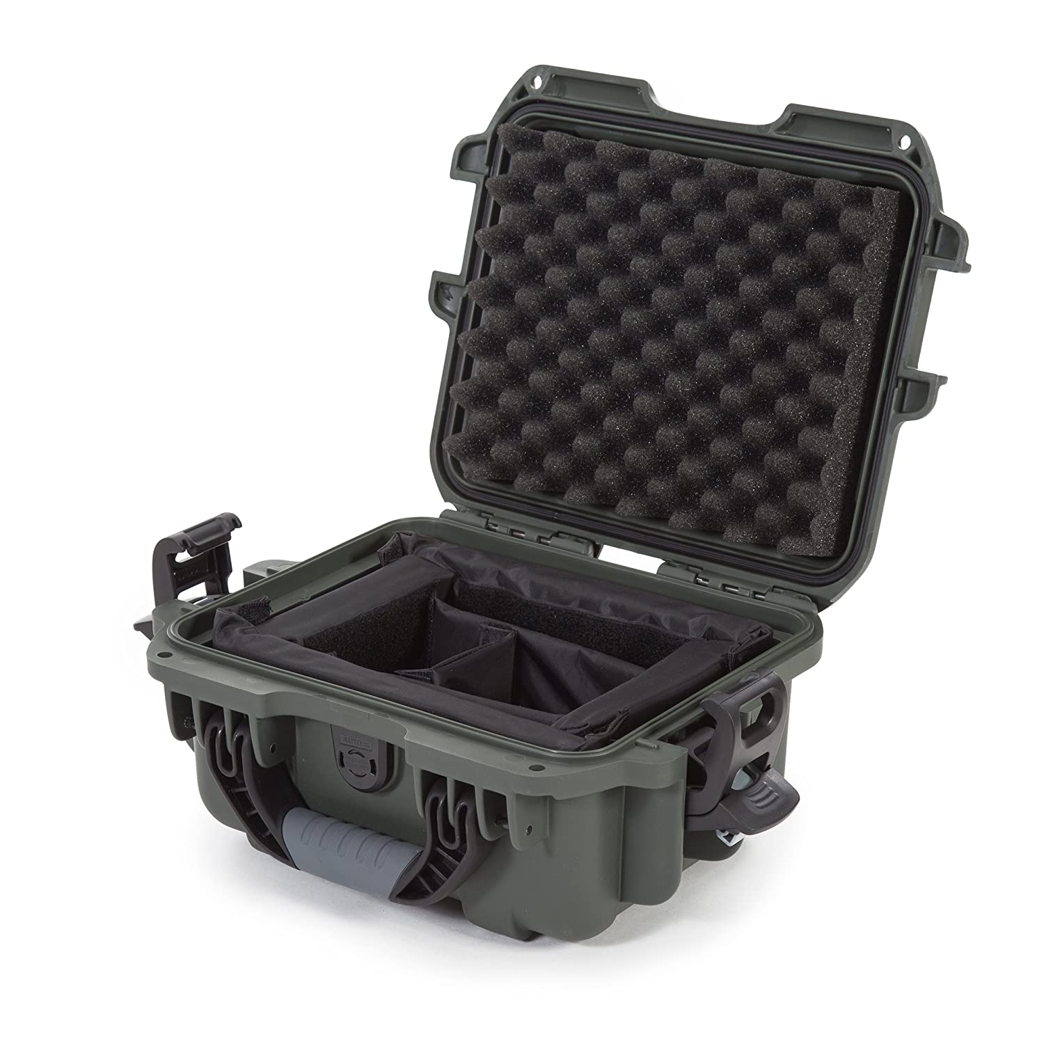 Nanuk 905 Waterproof Hard Case with Padded Dividers - Olive Plasticase Inc 905-2006