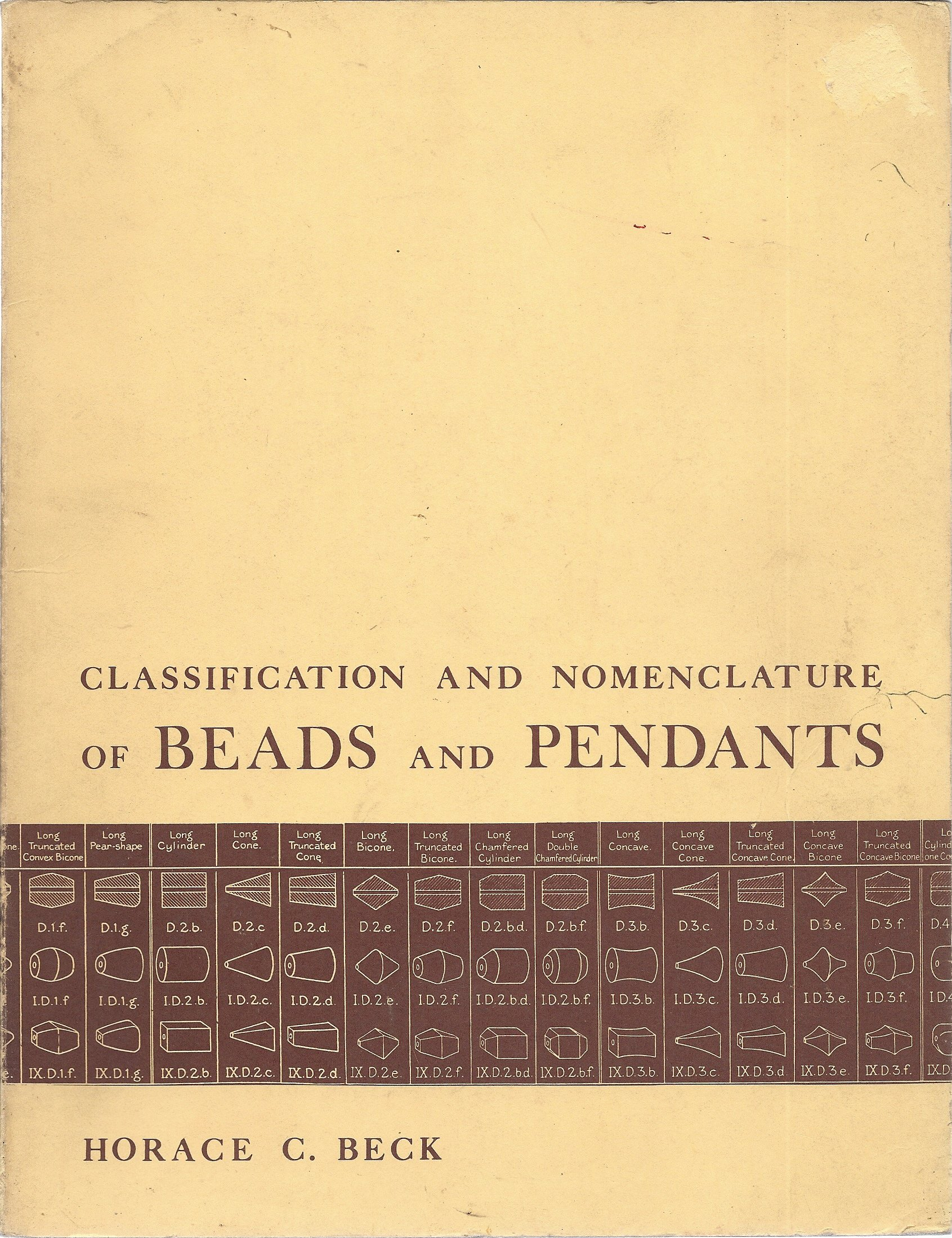 Classification and Nomenclature of Beads and Pendants