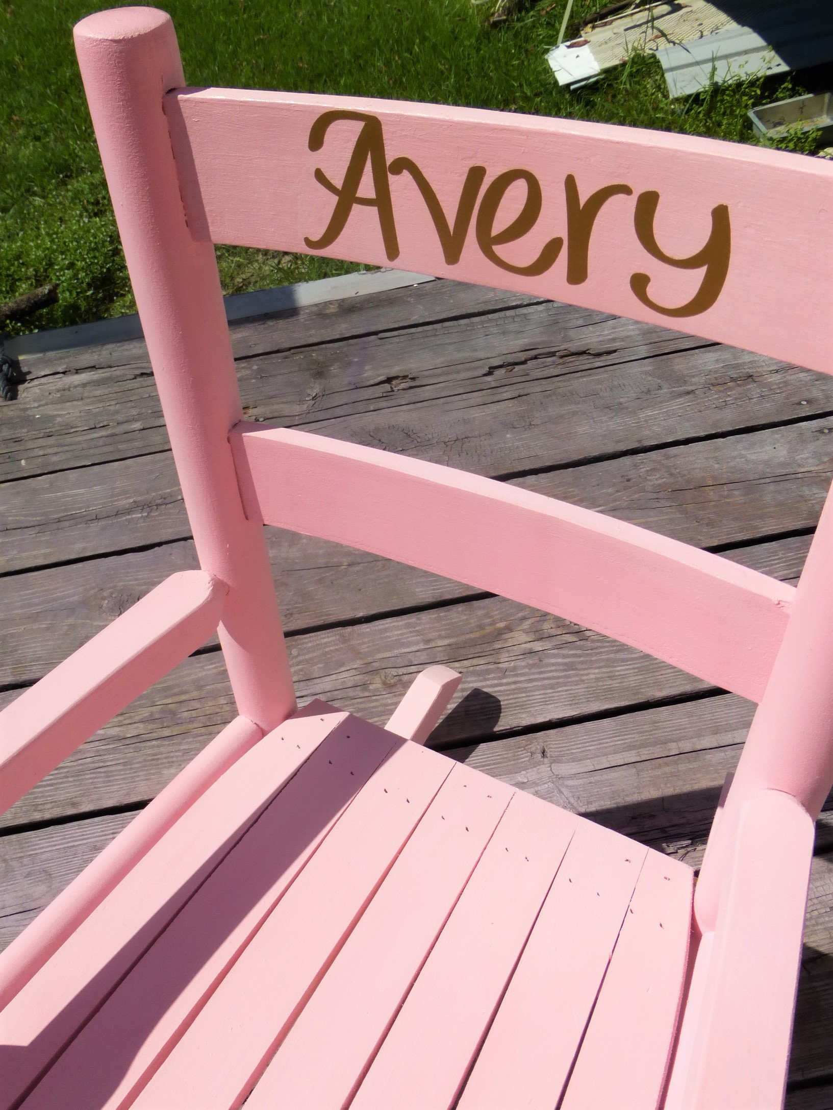 Toddler or kids wooden Rocking Chair