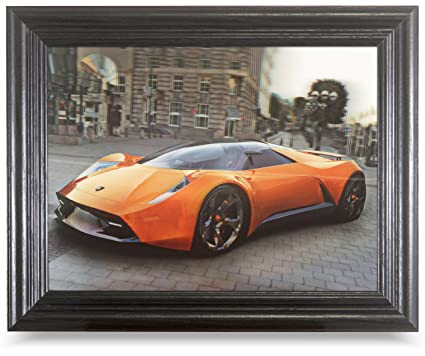 LAMBORGHINI 3D FRAMED Holographic Wall Art Lenticular Technology Causes The  Artwork To Have Depth And