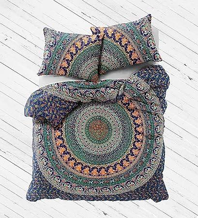 Amazon Com Ethnic Handicrafts Indian Mandala Duvet Cover With