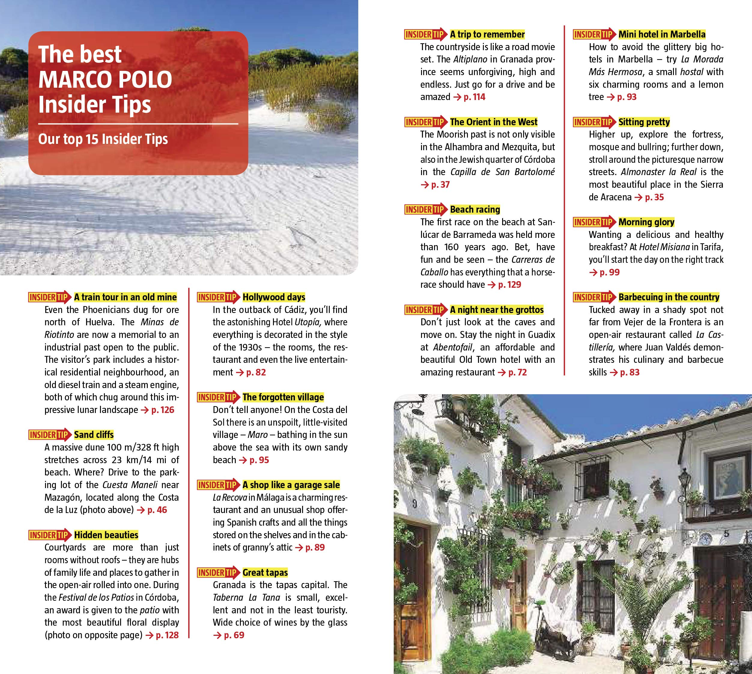 Andalucia Marco Polo Pocket Travel Guide 2019 - with pull