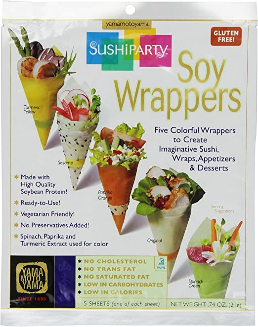 Yama Moto Yama Sushi Party Soy Wrappers, 5 count Packages, 0.74 ...