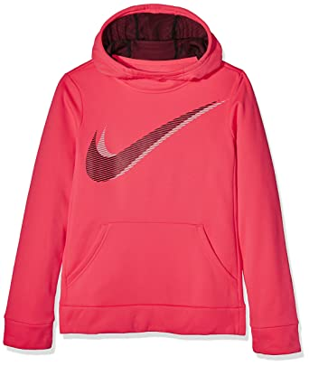 c56c722f24f39 Nike Girl's Therma Training Hoodie Racer Pink/Black Size Small
