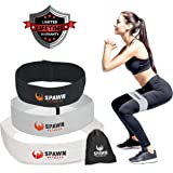 Spawn Fitness Fit Loop Resistance Cotton Latex Training Bands Targeting Legs Glutes Thighs for Women - Set of 3