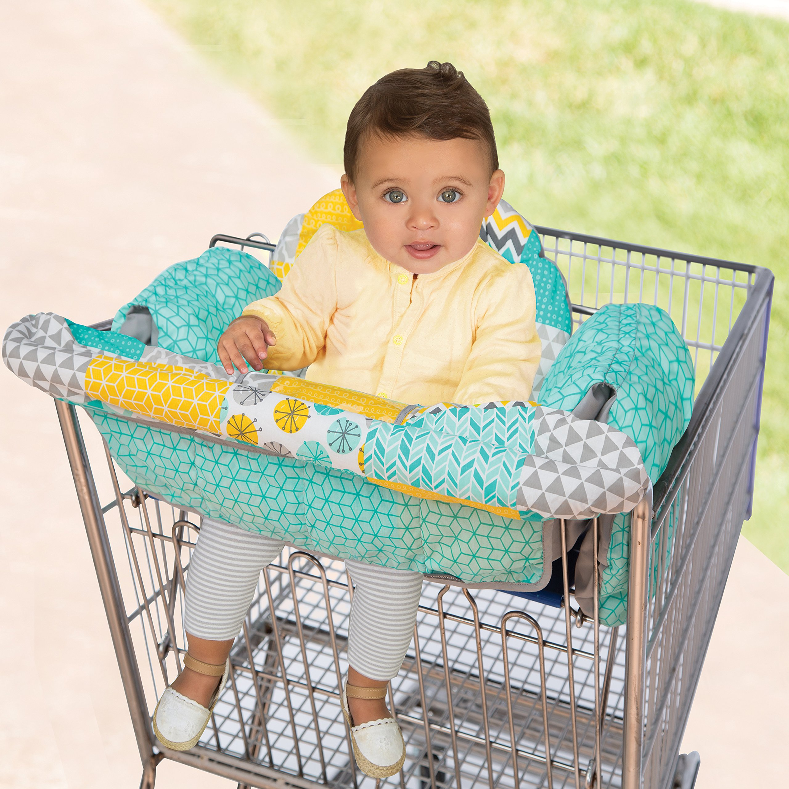 Infantino Unisex Baby Upright Travel Necessities Supportive Cart Cover, Teal by Infantino (Image #4)