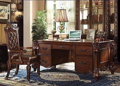 Brilliant Acme Vendome Cherry Executive Desk Home Interior And Landscaping Spoatsignezvosmurscom