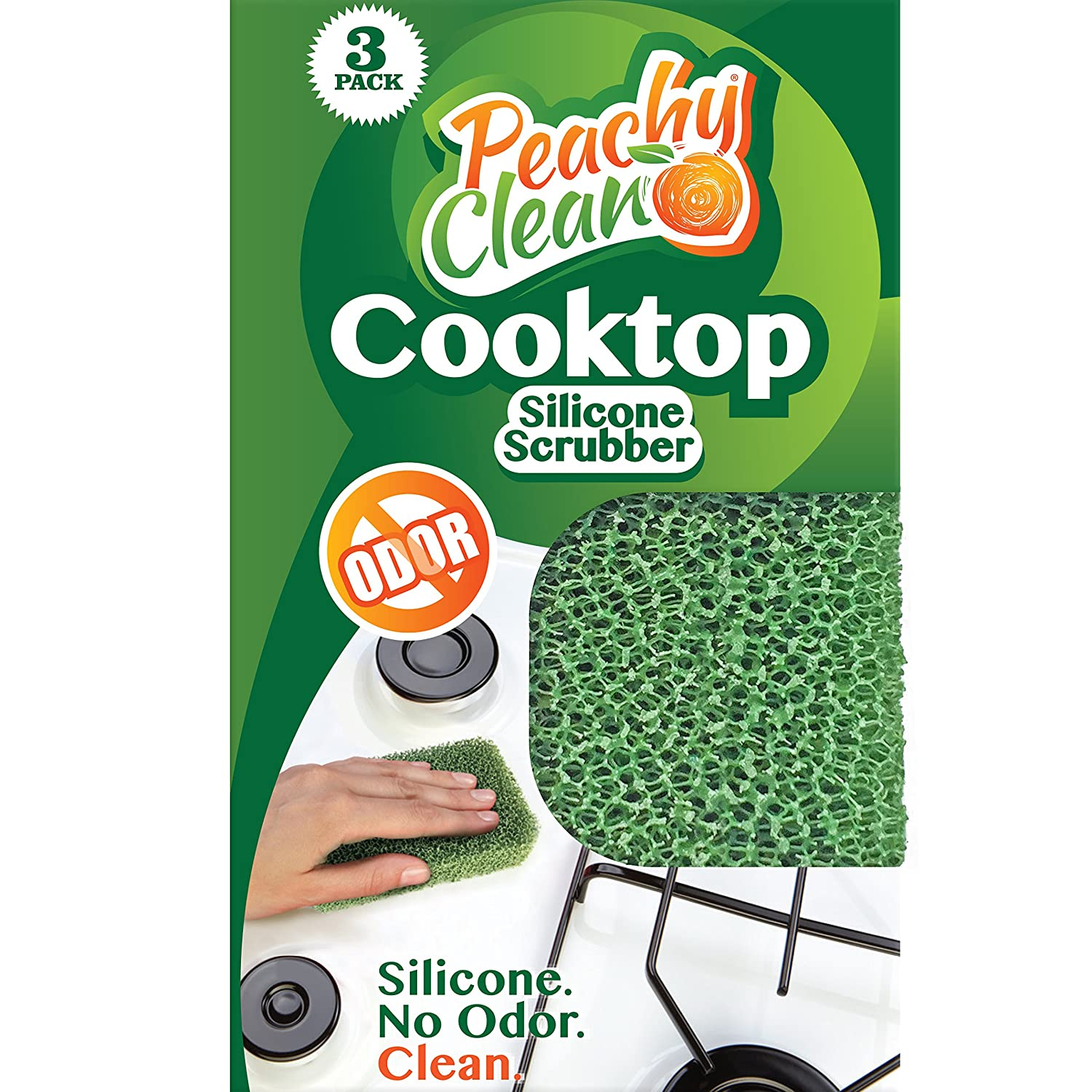 Amazon Antimicrobial Cooktop Cleaner Silicone Scrubber By