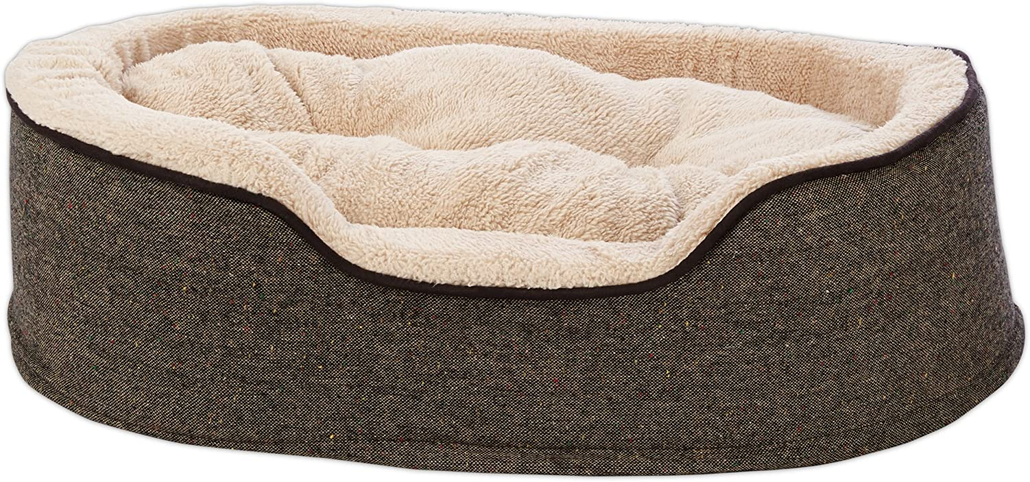 HARMONY Cuddler Orthopedic Dog Bed in Tweed