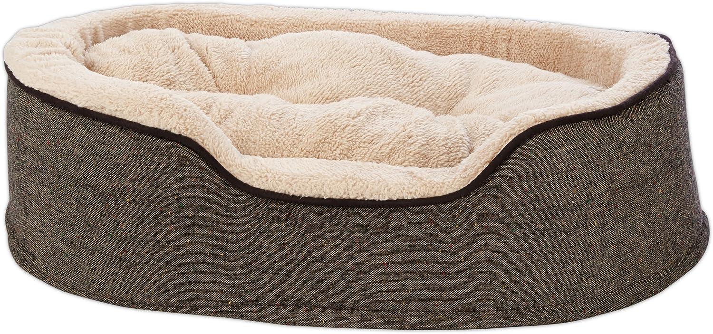 HARMONY Cuddler Orthopedic Dog Bed in Tweed
