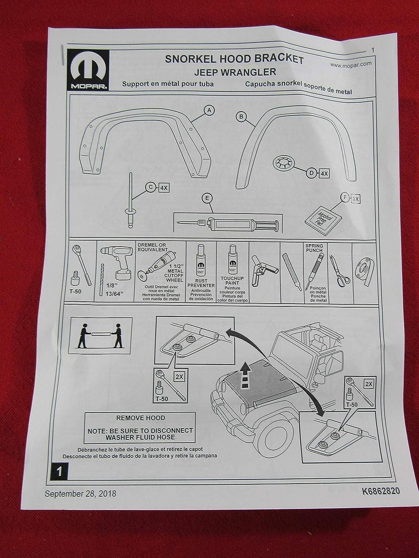 Amazon.com: JEEP WRANGLER JL Snorkel Air Inlet Intake System NEW OEM MOPAR: Automotive