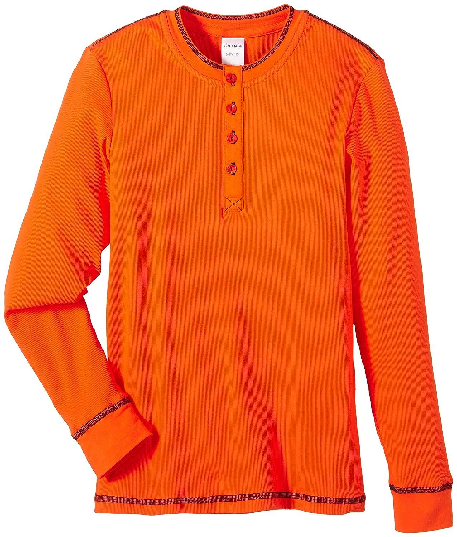 Schiesser Jungen Schlafanzugoberteil Shirt 1/1 Gr. 140 Gelb (orange 602) Schiesser AG 144856