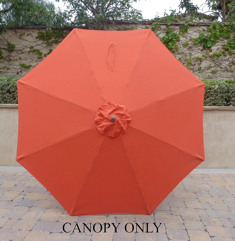 Amazon 9ft Umbrella Replacement Canopy 8 Ribs in Orange