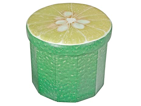 Exceptionnel Indian Handicrafts FE 1023 Lime Ottoman, Green