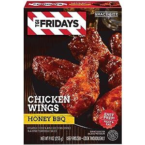 TGI Fridays Honey BBQ Chicken Wings (9 oz Box)