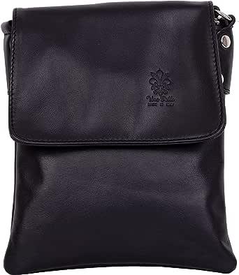 Primo Sacchi® Ladies Italian Soft Leather Hand Made Small Messenger Cross Body or Shoulder Bag Handbag. Includes a Protective Storage Bag.