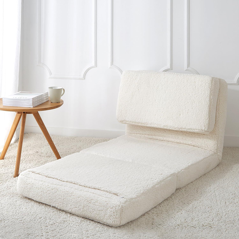 Admirable Urban Shop Convertible Flip Chair Adult White Inzonedesignstudio Interior Chair Design Inzonedesignstudiocom