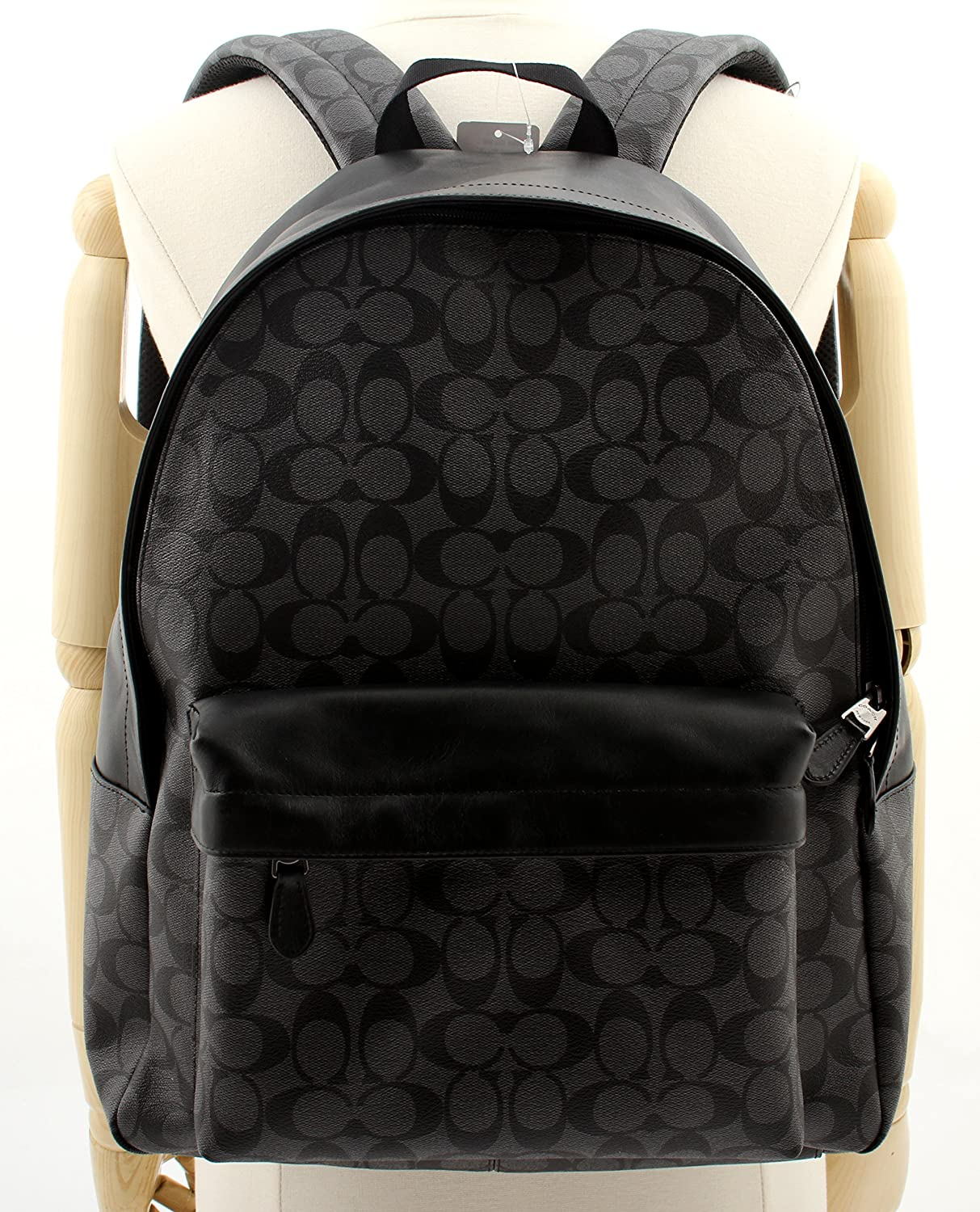Amazon com coach charles backpack in signature f55398 f55398 cq bk shoes