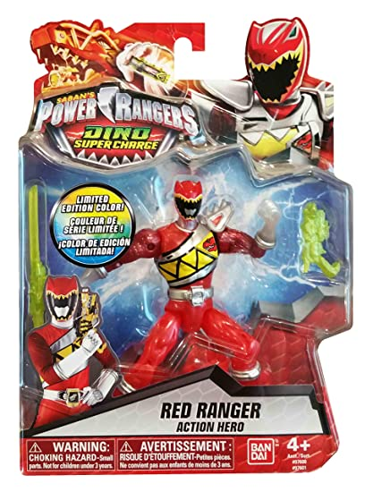 Sabans Power Rangers Dino Super Charge Red Ranger Translucent Limited Edition Exclusive Figure