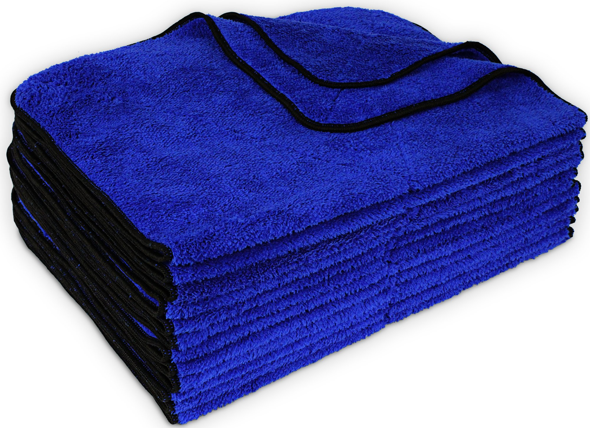 Detailer's Preference Premium Microfiber Towels Thick Super Absorbent Wash and Detail 450 GSM 16X24in Set of 12 Machine Washable