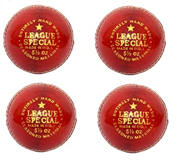 Cw Set Of 4 League Special Red Leather Cricket Ball Hard