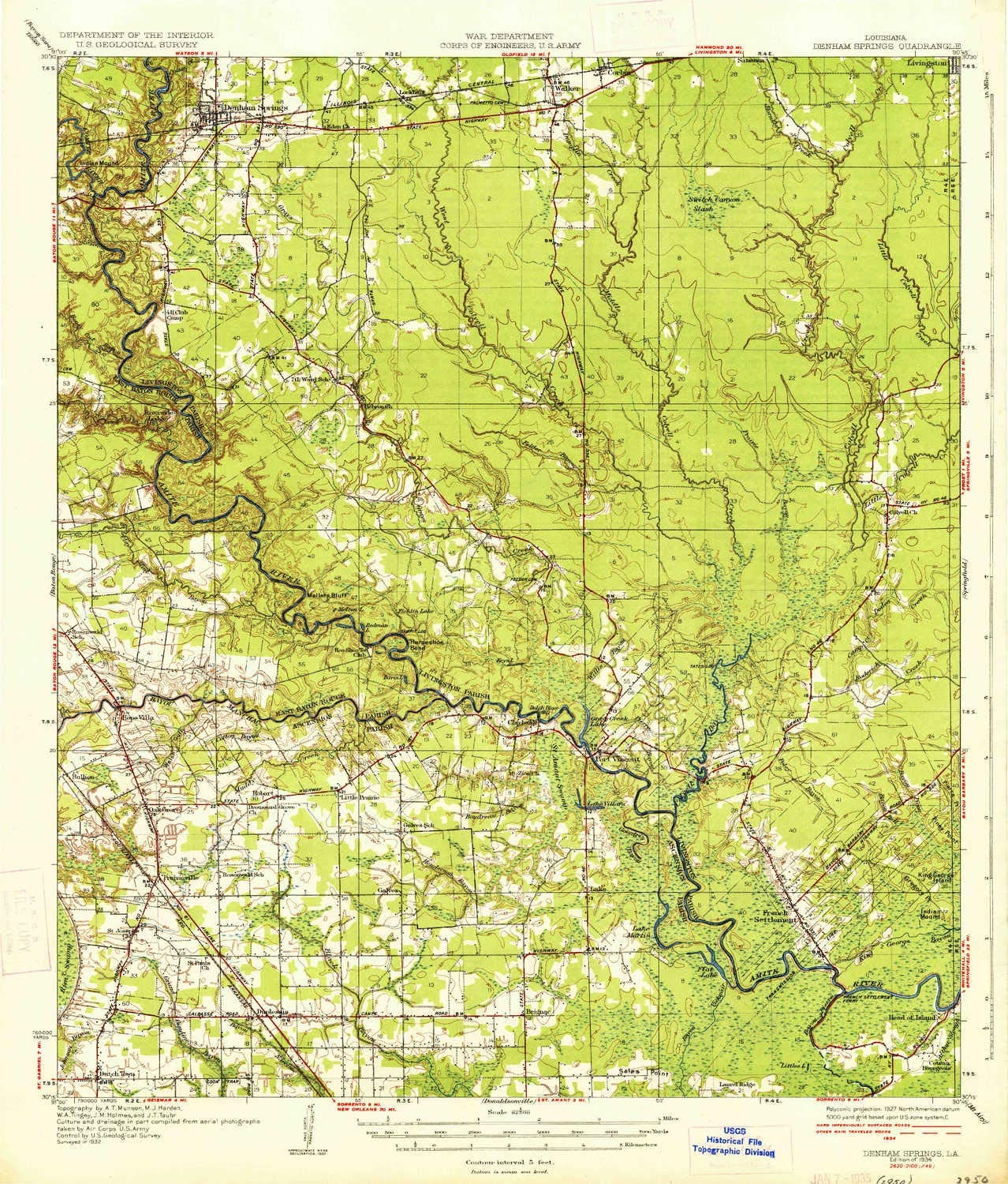 Amazon.com : YellowMaps Denham Springs LA topo map, 1:62500 ... on head of island la map, slidell la map, scott la map, de ridder la map, st. martinville la map, camp beauregard la map, west feliciana parish la map, franklinton la map, saint francisville la map, saint amant la map, metairie la map, florida la map, algiers la map, lafayette la map, farmerville la map, lake pontchartrain la map, st. francisville la map, tickfaw la map, washington la map, napoleonville la map,
