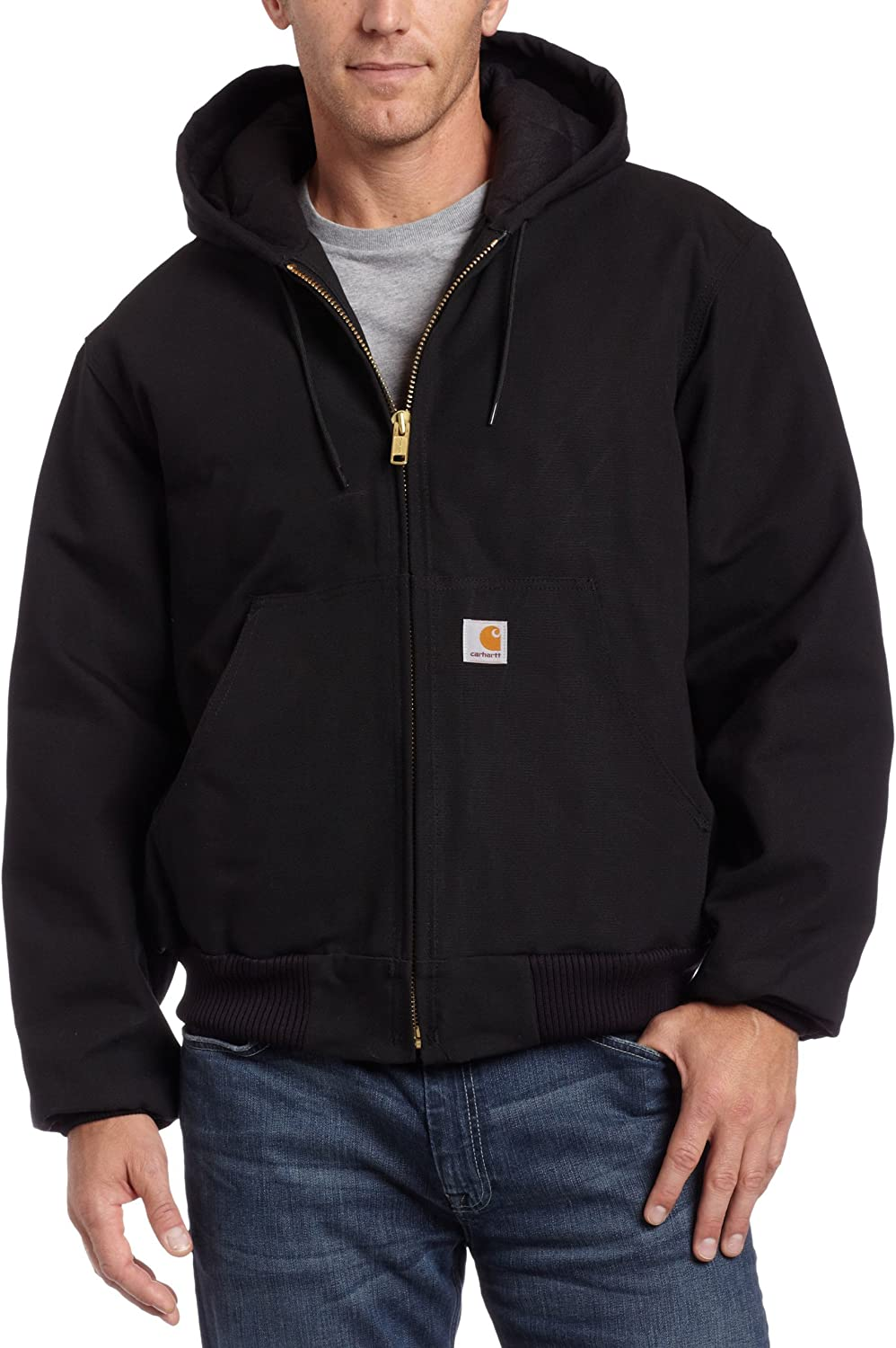 Carhartt Men's Quilted Flannel Lined Duck Active Jacket: Clothing