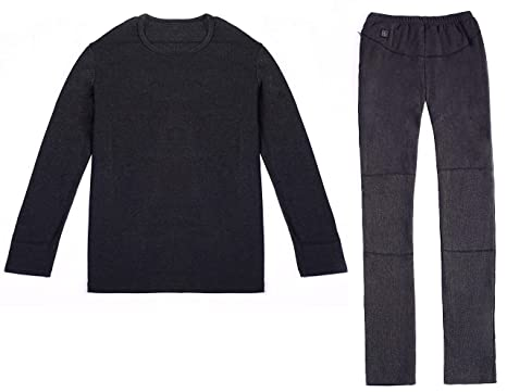 9f4d1e6f Vivienda Black Intelligent Heated Underwear for Men, Lithium Polymer  Battery Packs 7.4V2200mAh, Dual
