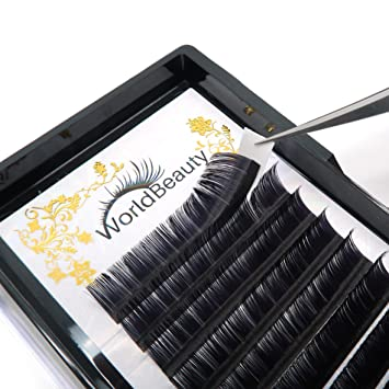 6a1f014d0c0 Amazon.com : Professional Classic Eyelash Extensions C Curl 0.15mm 12mm Silk  Individual Natural Black Faux Mink Lash Extensions Suppliers for Salon Use  : ...