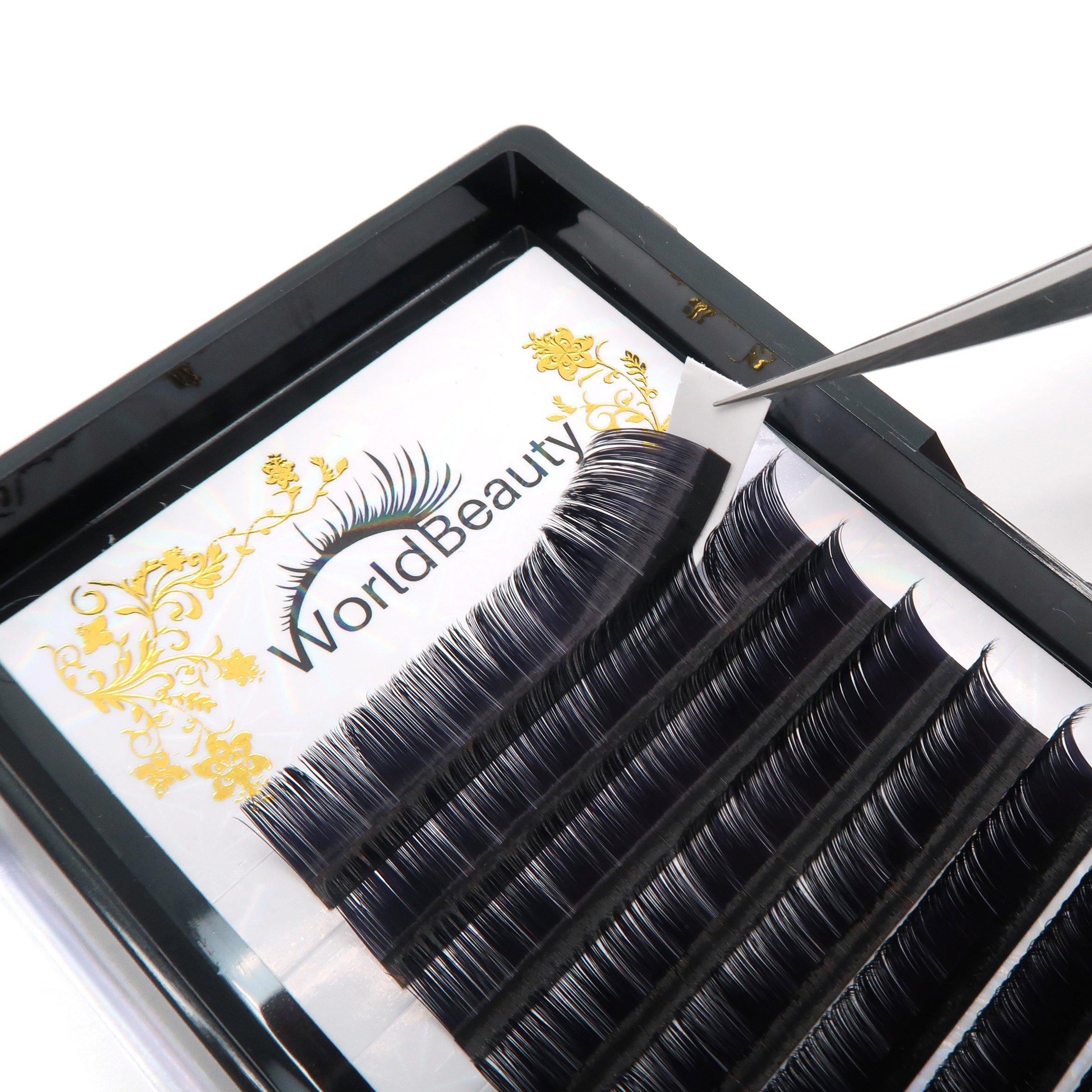 Amazon Professional Eyelash Extensions C Curl 015mm 12mm Silk