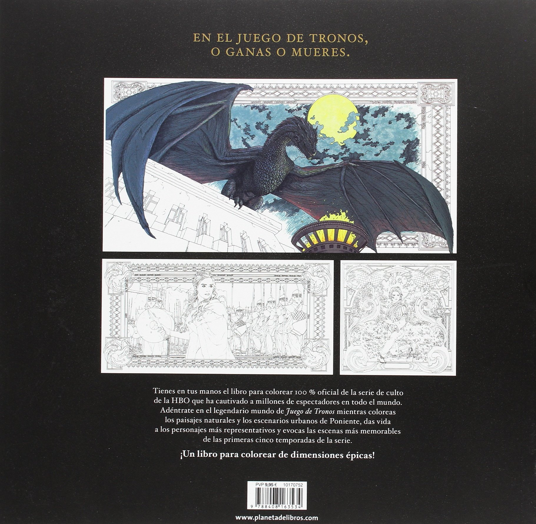 Resultado de imagen de juego de tronos colouring book crossbooks