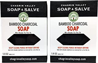 product image for Chagrin Valley Soap & Salve - Natural Soap Bar - Bamboo Charcoal 2X Pack