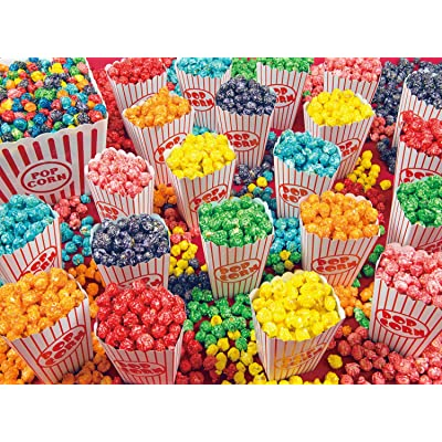 Colorful Popcorn Yummy Collection 300 Piece Jigsaw Puzzle: Toys & Games