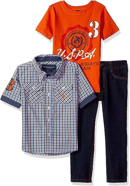 T-Shirt and Pant Set Polo Assn Boys Toddler Long Sleeve U.S