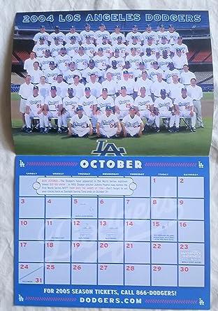 Dodgers 2004 2005 Calendar With Adrian Beltre Robin Ventura Jose