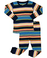 """Leveret Boys """"Striped"""" 2 Piece Pajama Set Top & Pants 100% Cotton (Size Toddler-14 Years)"""