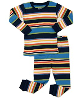 25d845e662 Leveret Striped Kids   Toddler Boys Pajamas 2 Piece Pjs Set 100% Cotton  Sleepwear (