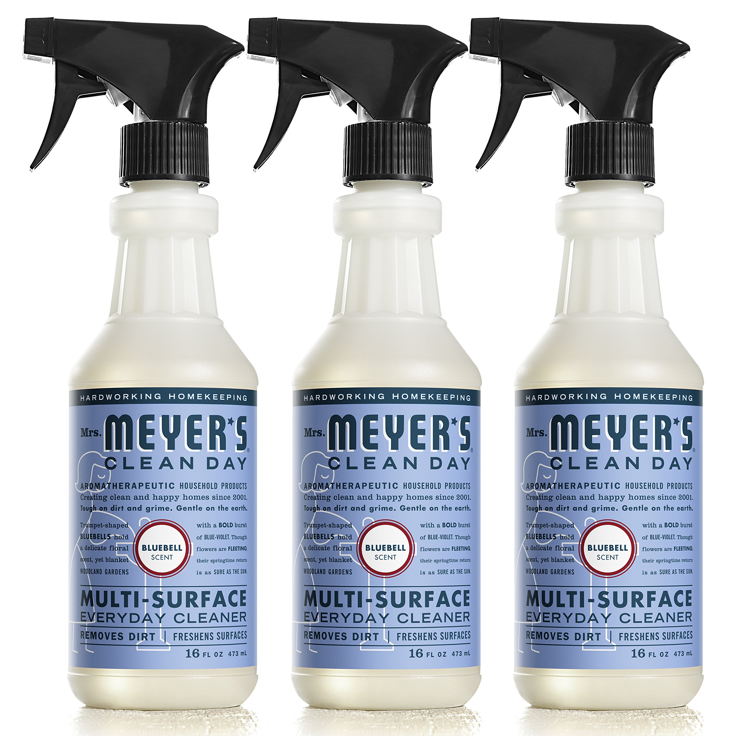 Mrs. Meyer's Clean Day Multi-Surface Everyday Cleaner, Bluebell, 16 fl oz, 3 ct